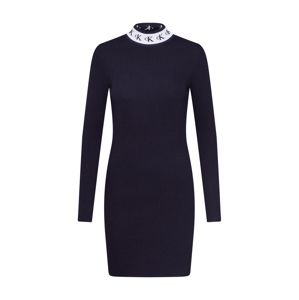 Calvin Klein Jeans Šaty 'MONOGRAM TAPE SWEATER DRESS'  černá
