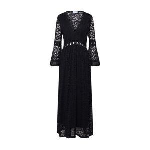 Carolina Cavour Společenské šaty 'midi lace dress'  černá
