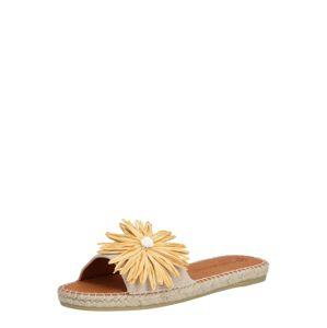 MACARENA Pantofle 'PLAY169'  béžová / žlutá