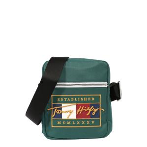TOMMY HILFIGER Taška přes rameno  zelená / žlutá / tmavě modrá / bílá / červená