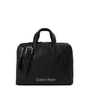 Calvin Klein Taška na notebook 'NY SHAPED LAPTOP BAG'  černá