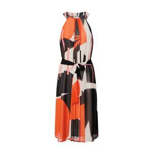Esprit Collection Koktejlové šaty  růžová / oranžově červená / bílá / černá
