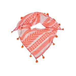 Zwillingsherz Šátek  oranžová / bílá