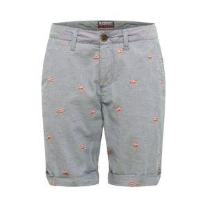 Superdry Chino kalhoty  bílá / kouřově modrá / růžová