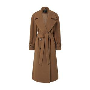 Dorothy Perkins Přechodný kabát 'GREEN DOUBLE BREASTED BELTED WRAP COAT'  béžová