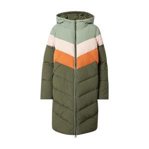 NÜMPH Zimní kabát 'Blackely'  oranžová / khaki / mátová / pastelově růžová