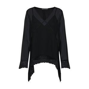 NA-KD Halenka 'asymmetric hem lace blouse'  černá
