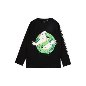 NAME IT Tričko 'GHOSTBUSTERS'  černá / bílá / svítivě zelená
