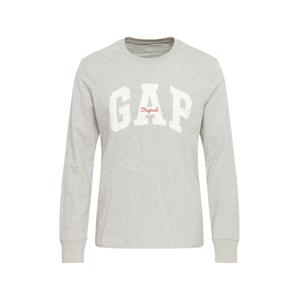 GAP Tričko 'Arch'  šedá / bílá