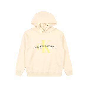 Calvin Klein Jeans Mikina 'Natural Dye'  žlutá / krémová / černá