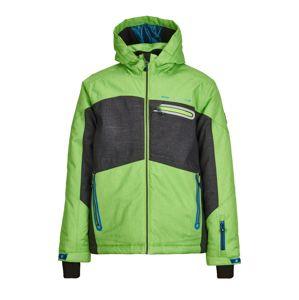 KILLTEC Outdoorová bunda 'Malcom'  antracitová / světle zelená