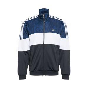 ADIDAS ORIGINALS Mikina s kapucí  tmavě šedá / modrá / bílá