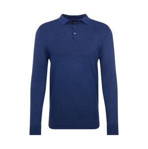 BURTON MENSWEAR LONDON Svetr 'jordan textured polo rich blue'  modrá