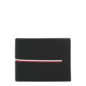 TOMMY HILFIGER Peněženka  černá / bílá / červená