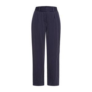 IVY & OAK Kalhoty 'Culotte Pintstripes'  kobaltová modř / bílá