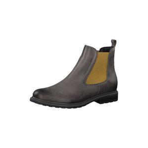 TAMARIS Chelsea boty  šedá / hořčicová