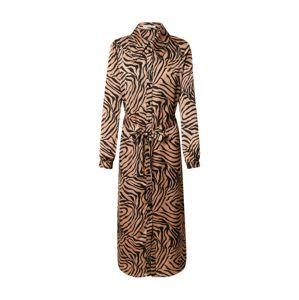 Love Copenhagen Košilové šaty 'Zeb'  světle hnědá / černá