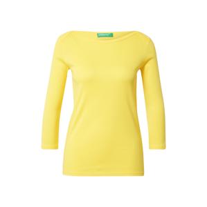 UNITED COLORS OF BENETTON Tričko  světle žlutá