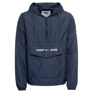 Tommy Jeans Přechodná bunda 'Solid Popover'  tmavě modrá / bílá