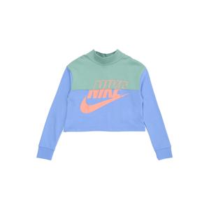 Nike Sportswear Mikina  světlemodrá / mátová / lososová