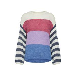 Pepe Jeans Svetr 'ERICA'  královská modrá / šedá / světle fialová / tmavě růžová / bílá