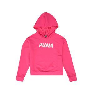 PUMA Sportovní mikina  bílá / pink