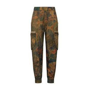 Desigual Harémové kalhoty 'PANT_CORFU'  mix barev / tmavě zelená