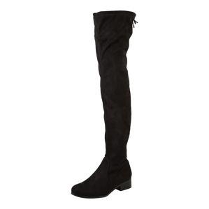 BULLBOXER Kozačky nad kolena  černá
