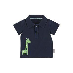 STERNTALER Tričko 'Giraffe'  marine modrá / světle zelená / bílá / kouřově modrá