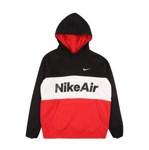 Nike Sportswear Mikina 'AIR PO'  černá / červená