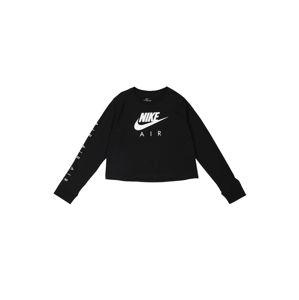 Nike Sportswear Tričko  černá / bílá