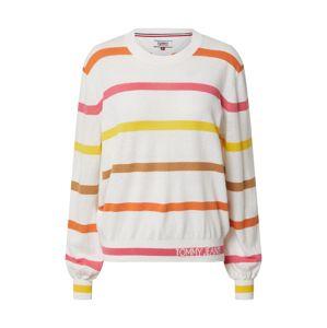 Tommy Jeans Svetr  režná / žlutá / pink / oranžová / hnědá