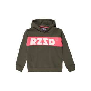Raizzed Mikina 'Riga'  khaki / bílá / červená