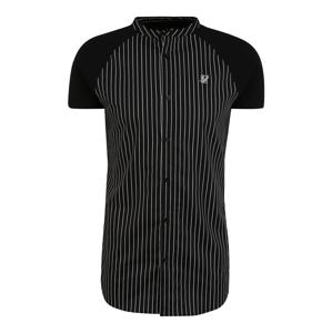 SikSilk Košile  bílá / černá