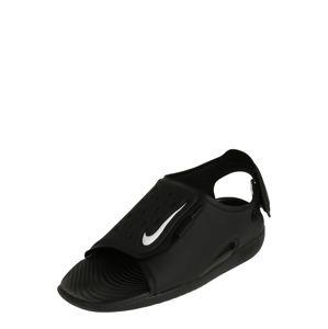 Nike Sportswear Otevřená obuv 'Sunray Adjust 5'  černá / bílá