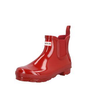 HUNTER Chelsea boty  červená