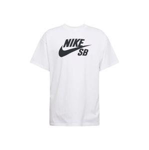 Nike SB Tričko  černá / bílá