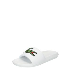 LACOSTE Plážová/koupací obuv  bílá / zelená