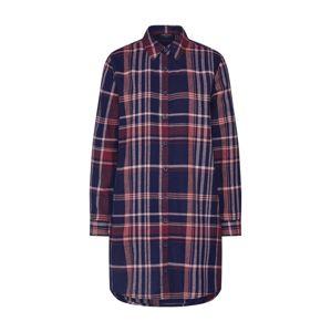 Sublevel Košilové šaty 'D70000W30173'  námořnická modř / fialová