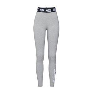 Nike Sportswear Legíny  šedý melír / černá / bílá