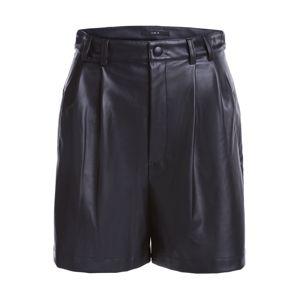 SET Kalhoty se sklady v pase  černá