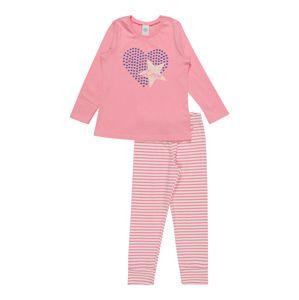 SANETTA Pyžamo  krémová / světle fialová / růžová