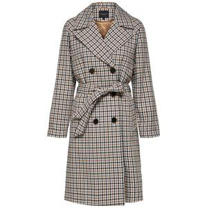 SELECTED FEMME Přechodný kabát  světle béžová / noční modrá / bílá
