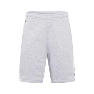 LACOSTE Kalhoty  šedý melír / bílá / tmavě modrá