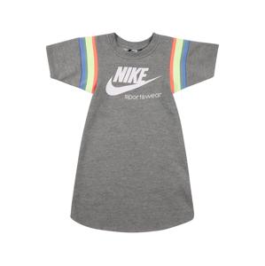 Nike Sportswear Šaty 'HERITAGE'  bílá / šedý melír / grenadina / světle žlutá / nebeská modř