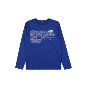 4F Funkční tričko  modrý melír / bílá