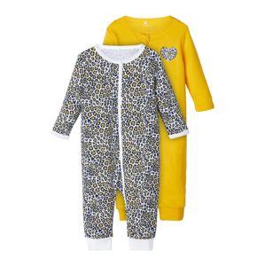 NAME IT Pyžamo  bílá / marine modrá / zlatě žlutá