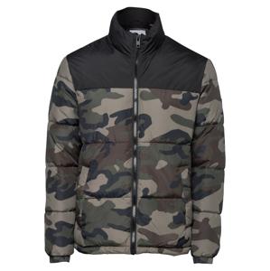 JACK & JONES Přechodná bunda 'DREW'  černá / mátová / khaki / tmavě zelená
