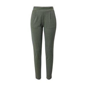 ICHI Kalhoty s puky  tmavě zelená