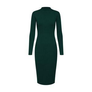 EDITED Úpletové šaty 'Hada'  zelená / tmavě zelená